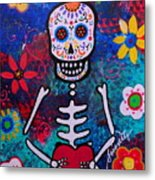 Corazon Day Of The Dead Metal Print
