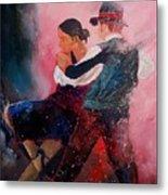 Dancing Tango Metal Print