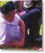 Detail Of Picnic By The Lake Metal Print