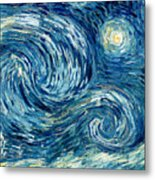 Detail Of The Starry Night Metal Print