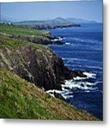 Dingle Coastline Near Fahan Ireland Metal Print