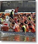 Dragon Boat Races On The Love River In Taiwan Metal Print