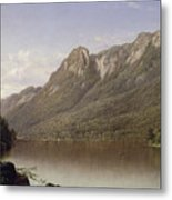 Eagle Cliff At Franconia Notch In New Hampshire Metal Print by David Johnson