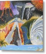 earth Wind and FIRE Metal Print