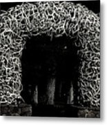 Elk Antlers Gate Jackson Hole Wy Metal Print