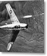 F-86 Jet Fighter Plane Metal Print