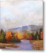 Fall Pond Scene Metal Print
