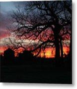 Farm Sunrise Metal Print
