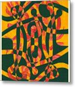 Firedance Metal Print