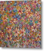 Flower Galaxy Metal Print