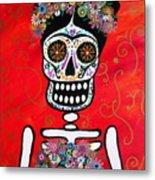 Frida Dia De Los Muertos Metal Print