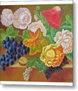 Fruits And Flowers  II. 2006 Metal Print
