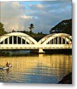 Haleiwa Bridge Metal Print by Paul Topp