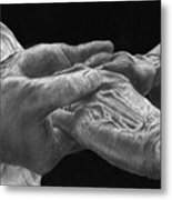 Hands Of Love Metal Print by Jyvonne Inman