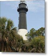 Hunting Island Lighthouse Metal Print