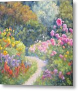 In Monets Footsteps Metal Print