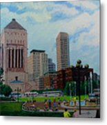 Indy Festival Metal Print
