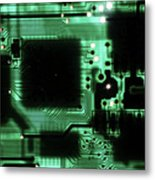 Integrated Circuit Board From A Computer Metal Print