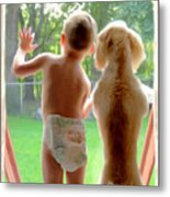 Jack And Buddy Metal Print