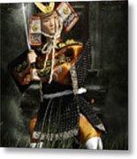 Japanese Samurai Doll Metal Print