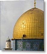 Jerusalem Dome Of The Rock  Metal Print
