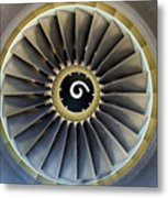 Jet Engine Detail. Metal Print by Fernando Barozza