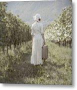 Lady In Vineyard Metal Print by Joana Kruse