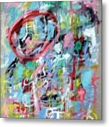 Large Abstract No 5 Metal Print