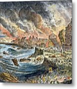 Lisbon Earthquake, 1755 Metal Print