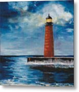 Lonely Beacon Metal Print