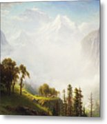 Majesty Of The Mountains Metal Print by Albert Bierstadt