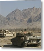Marines Conduct Combat Operations Metal Print