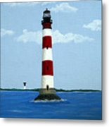 Morris Island Light Metal Print