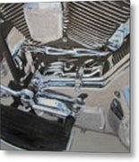 Motorcycle Close Up 2 Metal Print