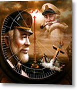 News Two Map Captain Or Two Sea Captain Metal Print