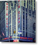 Nyc Radio City Music Hall Metal Print by Nina Papiorek
