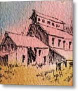 Old Mill Cable Ghost Town Montana_ Metal Print