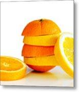 Oranje Lemon Metal Print