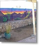 Outside Mural Metal Print