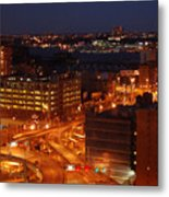 Overlooking The Hudson River From 42nd Street II Metal Print
