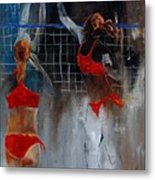 Playing Volley Metal Print