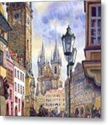 Prague Old Town Square 01 Metal Print