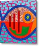 Psychedelic Fish Metal Print by John  Nolan