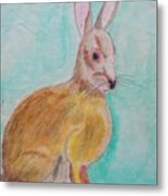 Rabbit Illustration Metal Print