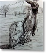 Ranch Work Metal Print