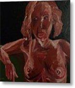 Seated Nude Metal Print
