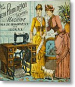 Sewing Machine Ad, C1880 Metal Print
