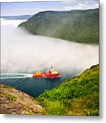 Ship Entering The Narrows Of St John's Metal Print