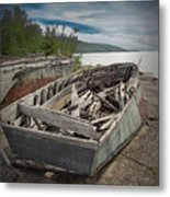 Shipwreck At Neys Provincial Park Metal Print