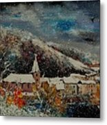 Snow In Bohan Metal Print